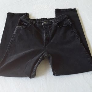 RIDERS BY LEE WOMEN'S JEANS SIZE 12P BLACK COLOR